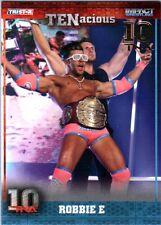 TNA Robbie E #34 2012 TENacious GOLD Parallel Card SN 10 of 10