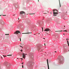 50pcs Pink Mini Pacifier Charms Baby Shower Party Favour Nappy Cake Decor