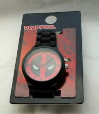 Marvel Comics DeadPool Face Accutime Watch Large Men's New NOS Card Rubber Strap