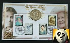 2002 Queen Mother Anniversary £5 Five Pound Coin Benham First Day Cover + COA