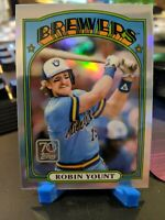 2021 Topps Series 1 Robin Yount 70 Years Of Topps Chrome Refractor Card.