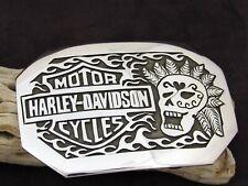 Sterling Silver Harley Davidson Belt Buckle