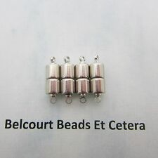 100 Crazy Strong 6x20mm Magnetic Clasps Entire Centre Piece is a Magnet Silver