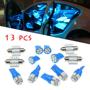 13 x Car SUV Interior LED Lights For Dome License Plate Lamp Accessories Kit
