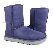 UGG Classic Short II Purple Sage Suede Fur Boots Womens Size 8 *NIB*