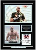 (##67)  tyson fury  boxing signed a4 photo/mounted/framed (reprint) ############