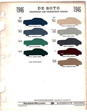 1947 DE SOTO DELUXE CUSTOM COUPE SEDAN 47 PAINT CHIPS SHERWIN WILLIAMS
