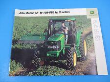 Original John Deere Sales Brochure 5025 Series 56-91 Hp Tractors M1311