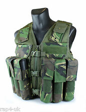 Military Grade Nylon Cordura Tactical Vest  For Paintball Airsoft - DPM [BC1]
