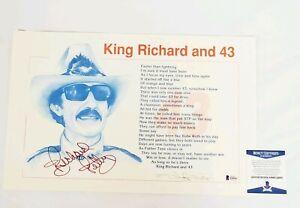 Richard Petty Signed Print King 11X17 Nascar Beckett COA