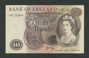 BANK OF ENGLAND QEII Page £10 1971  B326  AUNC Banknotes