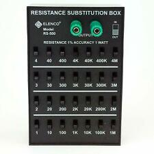 ELENCO RS-500 RESISTOR SUBSTITUTION BOX-1 Ohm to 11.111M Ohm (ASSEMBLED VERSION)