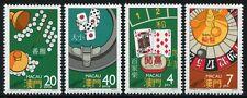 MACAU MACAO 1987 Glücksspiele Roulette Fantan Cussec Baccarat 579-82 ** MNH