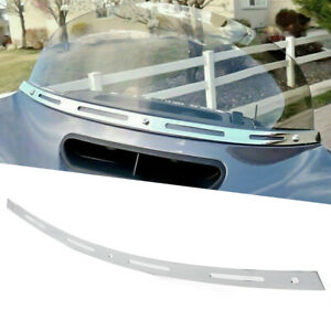 Slotted Batwing Front Windshield Trim For Harley Electra Street Glide 1996-2013