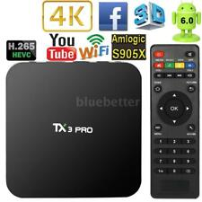 TX3 PRO New Android 6.0 S905X Quad Core Smart TV Box 4K WIFI Stream Media Player
