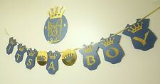 Its A Boy Royal Prince Crown Theme Baby Shower Party Hanging Banner  With A Sign