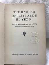 The Kasidah Of Haji Abdu El-Yezdi-1942 Second Printing