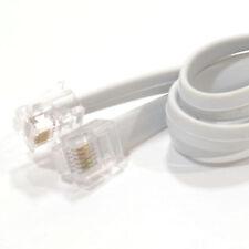 2m FLAT RJ12 6P6C to RJ12 6P6C Cable Plug to Plug (RJ11 with 6 wire) [005890]