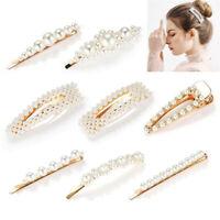8PCS Hair Barrettes Hair Pins Decorative Wedding Bridal Artificial Pearl Hairpin
