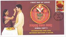 JVC CACHETS -2016 DIWALI  FIRST DAY COVERS FDC DIWALI DAY 5 BHAI DOOJ