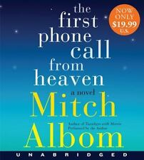 THE FIRST PHONE CALL FROM HEAVEN unabridged audio CD by MITCH ALBOM - Brand New!
