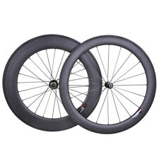60mm 88mm Sapim CX-RAY Carbon Wheel Clincher Road Bike 700C Basalt Rim 3k matt