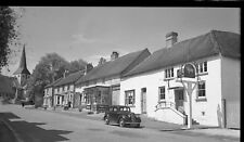 B/W Negative South Harting  1948 Village Scene Shops & Inn + Copyright DB545