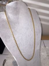 """Vintage Heavy Gold Plated NeckChain Twisted Strands Gold Necklace 21"""" MidCentury"""