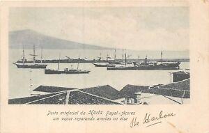 POSTCARD   AZORES   HORTA  The  Port