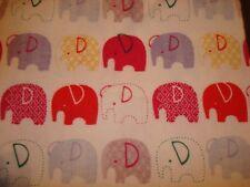 Elephant Flannel Fabric by the half yard; Jungle theme; little peanut fabric