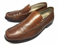 Bass Moc Toe Loafers Slip On Brown Leather Casual Dress Mens Shoes 13 M