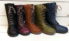 Ladies Oxygen Taff Leather Lace & Zip Mid Calf Boots