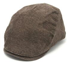 Brown Mens Cotton Blend Corduroy Flat Cap Size 60-61 cm Cheap