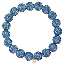 Kirks Folly Fairy Fireball Crystal Ball 10mm Stretch Bracelet in Light Sapphire