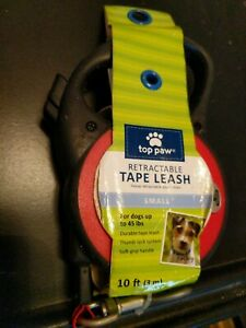 Top Paw Retractable tape Dog Leash Small 10ft. Red - NEW up to 45 lbs