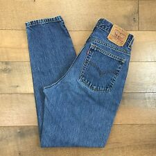 LEVIS Vintage 90s 512 Jeans Slim Fit Tapered Leg USA MADE Womens Size 12 MIS M