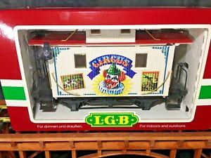 LGB 41653 White Circus Caboose * Original Box * G Scale *