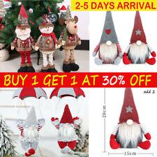 Nordic Santa Gonk Christmas Gnome Elf Doll Xmas Tree Hanging Decoration AA UK