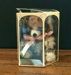 """Merrythought Bear Apricot Tipped Micro Cheeky 6"""" Mohair Limited Edition 199 Mint"""