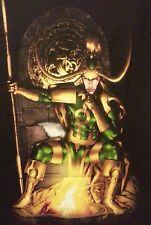NEW MENS EVIL LOKI SITTING T-SHIRT SIZE S M  L XXL Marvel.com Avengers Thors bro