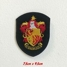 Gryffindor Shield badge Harry potter Iron On Embroidered Patch applique #1614