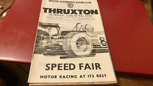 THRUXTON SPEED FAIR--RACE MEETING--PROGRAMME---14TH JUNE 1970