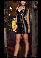 New women's sexy backless Zipper front  Clubwear party dress costume USA SELLER