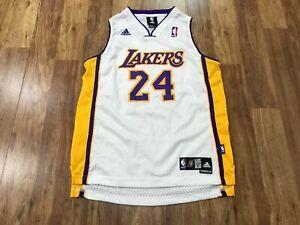 BOYS L (14 - 16) - Vtg NBA Los Angeles Lakers #24 Kobe Bryant adidas Sewn Jersey