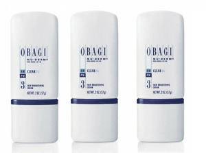 3X Obagi Nu Derm Clear FX AM PM facial Skin Brightening Cream 2 oz triple PACK