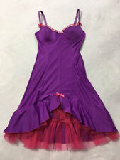 Victoria's Secret Sexy Little Things 34B Purple Pink Tulle Trim Bustier Nightie