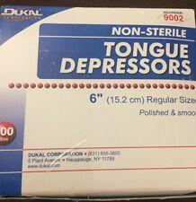 "New listing Dukal 9002 Non-Sterile Tongue Depressors Senior 6"" Case of 5000"