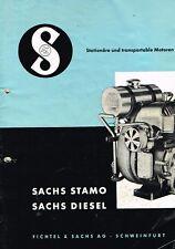 Sachs Motoren Sachs Stamo / Diesel, orig. techn. Broschüre ca. 50/60er Jahre