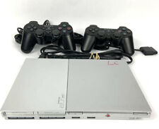 New listing Sony PlayStation 2 Ps2 Slim Silver Scph-79001 Bundle Controllers Adapter