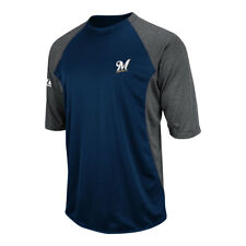 Milwaukee Brewers 3/4 Sleeve Crew Neck Featherweight Tech Fleece Pullover Large